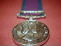 FULL SIZE GSM WITH BORNEO CLASP MEDAL MSC