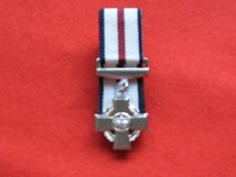 MINIATURE COURT MOUNTED CONSPICUOUS GALLANTRY CROSS MEDAL