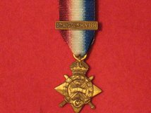 MINIATURE 1914 STAR MEDAL WITH MONS CLASP