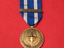 FULL SIZE NATO MEDAL WITH NTM IRAQ CLASP MEDAL