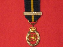 MINIATURE ARMY EMERGENCY RESERVE DECORATION MEDAL EIIR