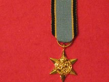 MINIATURE AIR CREW EUROPE STAR MEDAL WW2