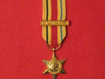 MINIATURE AFRICA STAR MEDAL WITH 8TH ARMY CLASP