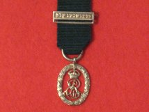 MINIATURE VOLUNTEER OFFICERS DECORATION MEDAL 1908 EDWARD VII WITH TOP BAR CONTEMPORARY MEDAL