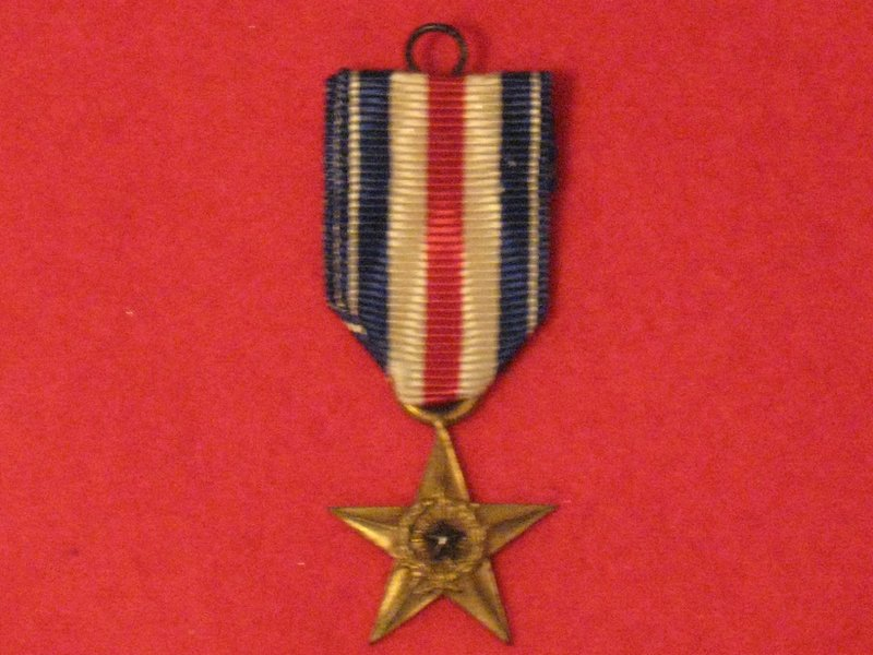 Miniature World War 2 France and Germany Star Medal with ribbon Mint Condition