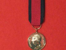 MINIATURE WATERLOO MEDAL 1815 SILVER PLATED