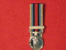 MINIATURE COURT MOUNTED OSM AFGHANISTAN WITH CLASP MEDAL
