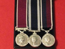 MINIATURE LSGC MEDAL SET OF 3 MEDALS - ARMY LSGC MEDAL- ROYAL NAVY LSGC MEDAL - ROYAL AIR FORCE LSGC MEDAL - WITH MEDAL BOX