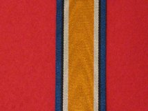 FULL SIZE BRITISH WAR MEDAL WW1 MEDAL RIBBON