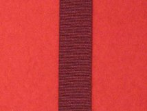 MINIATURE ARMY LSGC PRE 1917 QV OR E VII MEDAL RIBBON ALL RED.