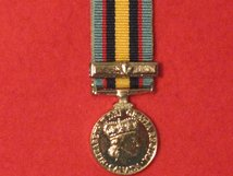 MINIATURE CANADA GULF AND KUWAIT MEDAL WITH BAR
