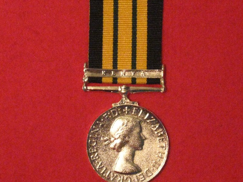 FULL SIZE AFRICA GENERAL SERVICE MEDAL WITH KENYA CLASP MUSEUM