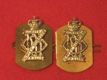 13TH 18TH ROYAL HUSSARS MILITARY COLLAR BADGES