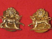 YORK AND LANCASTER REGIMENT MILITARY COLLAR BADGES