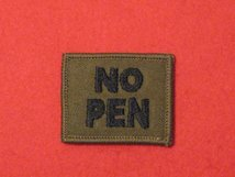 BLOOD GROUP PATCH BADGE NO PEN - WITH VELCRO BACKING OLIVE GREEN BADGE