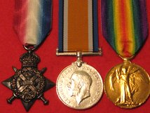 FULL SIZE WORLD WAR 1 TRIO - 1914 STAR - BRITISH WAR MEDAL - VICTORY MEDAL MUSEUM STANDARD COPY MEDALS