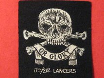 17TH 21ST LANCERS BLAZER BADGE