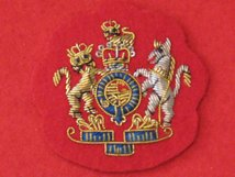 MESS DRESS WO1 RSM BSM GOLD ON RED BADGE