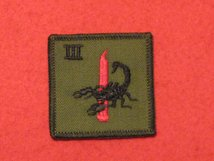 TACTICAL RECOGNITION FLASH BADGE ROYAL AIR FORCE 3 SQN SQUADRON OLIVE GREEN RED DAGGER RAF TRF BADGE