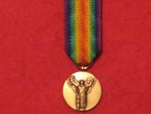 MINIATURE FRANCE FRENCH VICTORY MEDAL WW1 WORLD WAR 1 MEDAL