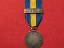FULL SIZE EU MEDAL WITH ARTEMIS CLASP REPLACEMENT MEDAL.