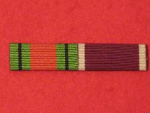 DEFENCE MEDAL & ARMY LSGC MEDAL RIBBON SEW ON BAR