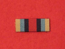 OSM AFGHANISTAN MEDAL RIBBON SEW ON BAR