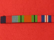 1939 1945 STAR AND DEFENCE MEDAL AND END OF WAR WW2 RIBBON BAR SEW ON BAR