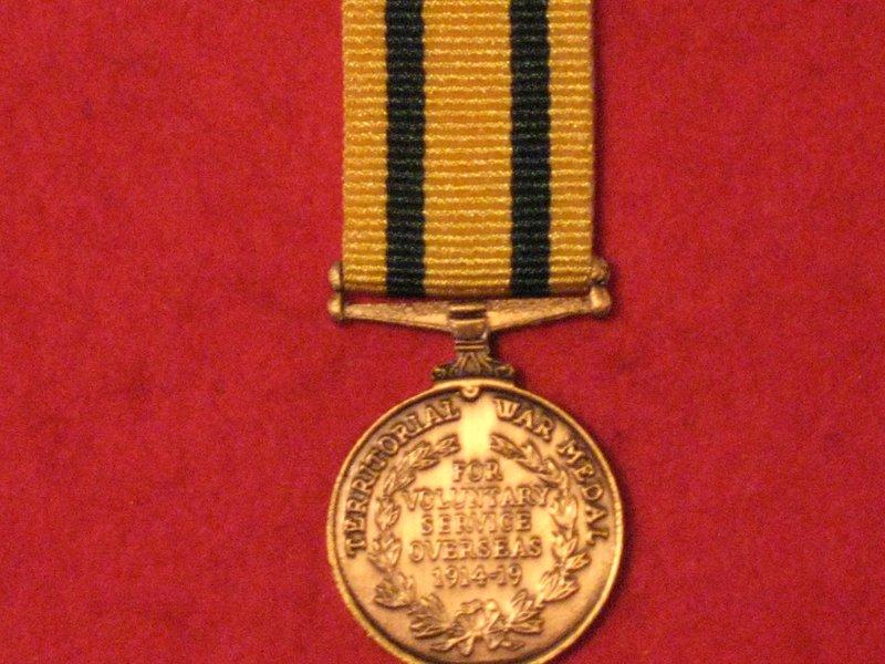 Miniature Territorial Force War Medal 1914 1919 Medal