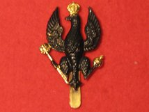 KINGS ROYAL HUSSARS KRH CAP BADGE BLACK TYPE