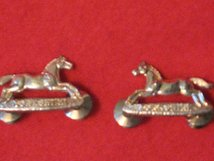 YORKSHIRE REGIMENT MILITARY COLLAR BADGES