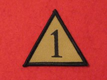 BRITISH ARMY 1ST ARMOURED INFANTRY BRIGADE BADGE AKA 1 MECH TRIANGLE BUFF