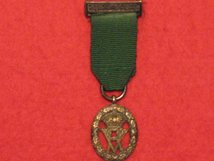 MINIATURE VOLUNTEER OFFICERS DECORATION MEDAL QUEEN VICTORIA QV WITH TOP BAR CONTEMPORARY MEDAL