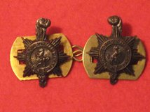 PRINCESS OF WALES ROYAL REGIMENT PWRR MILITARY COLLAR BADGES
