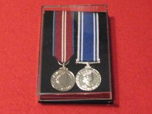 Pair of Unmounted Miniature Medals