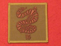 TACTICAL RECOGNITION FLASH BADGE 15 SNAKE BUFF TRF BADGE