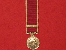 MINIATURE MALAWI ARMY LSGC MEDAL WITH BAR
