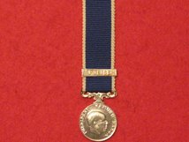 MINIATURE MALAWI POLICE LSGC MEDAL WITH BAR