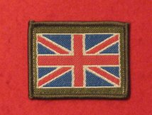 UNION JACK BADGE SEW ON BADGE OVERLOCKED.