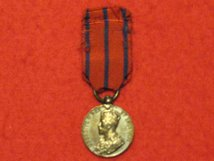 MINIATURE CORONATION MEDAL 1911 CITY OF LONDON POLICE CONTEMPORARY MEDAL GF
