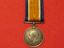 FULL SIZE BRITISH WAR MEDAL WW1 ORIGINAL MEDAL GVF NAMED TO GOODYEAR