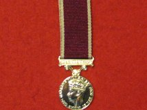 MINIATURE ARMY LSGC LONG SERVICE GOOD CONDUCT MEDAL GVI