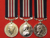 FULL SIZE SET OF 3 MILITARY MEDALS MM - GVI - GV - EIIR - MUSEUM STANDARD COPY MEDALS