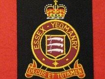 ESSEX YEOMANRY BLAZER BADGE