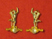 ROYAL SIGNALS REGIMENT OFFICERS MILITARY COLLAR BADGES