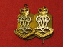 QUEENS OWN HUSSARS REGIMENT MILITARY COLLAR BADGES