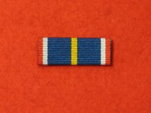 NATIONAL SERVICE COMMEMORATIVE MEDAL RIBBON SEW ON BAR