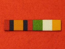 QUEENS SOUTH AFRICA QSA . KINGS SOUTH AFRICA MEDAL KSA MEDAL RIBBON SEW ON BAR