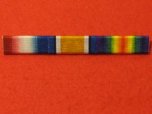 1914 STAR AND BRITISH WAR MEDAL AND VICTORY MEDAL RIBBON BAR PIN ON
