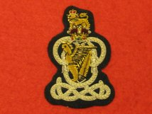 QUEENS ROYAL HUSSARS OFFICERS BERET BADGE
